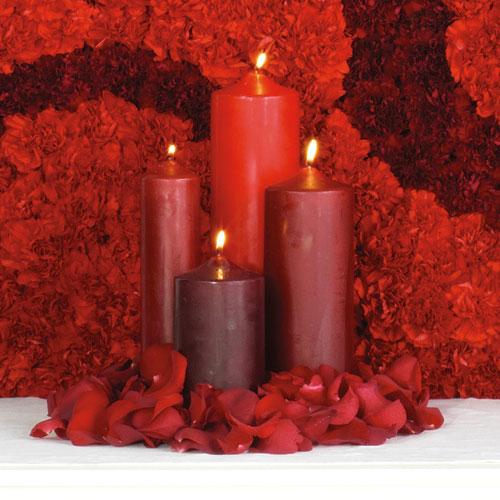 Wedding Altar Candles: Wedding Bouquets, Florist Bouquets: Centerpieces And