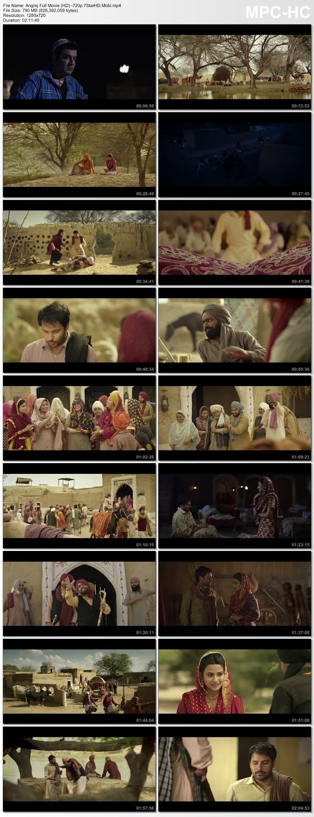 Screen Shot Of Angrej 2015 300MB DVDRip 480P Full Punjabi Movie Watch Online Free Download