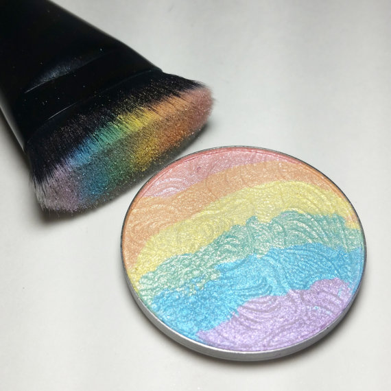 Rainbow highlighter, unicorn glow highlighter, wet n wild rainbow highlighter, Prism Rainbow Highlighter, DIY Rainbow Highlighter
