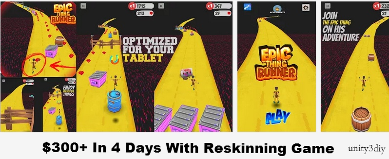 $300+ In 4 Days With Reskinning Game | Unity 3d Tutorials