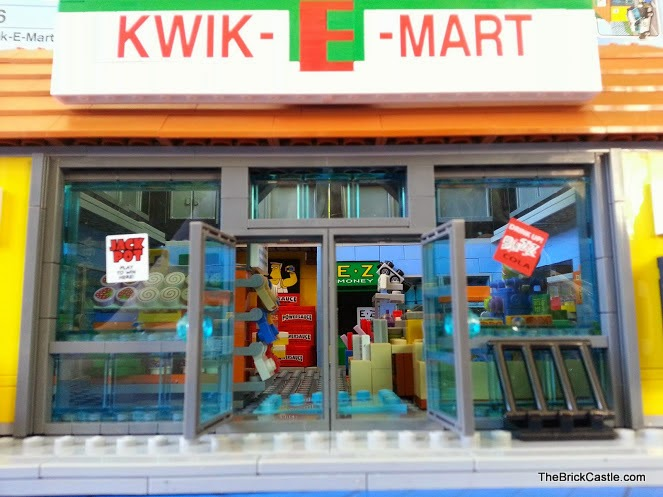 71016 LEGO review Simpson's Kwik-E-Mart frontage building