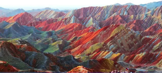 10 AMAZING PLACES AROUND THE WORLD 2. Zhangye Danxia landform geological park, China