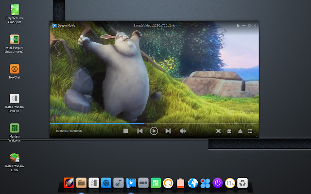 Deepin movie player
