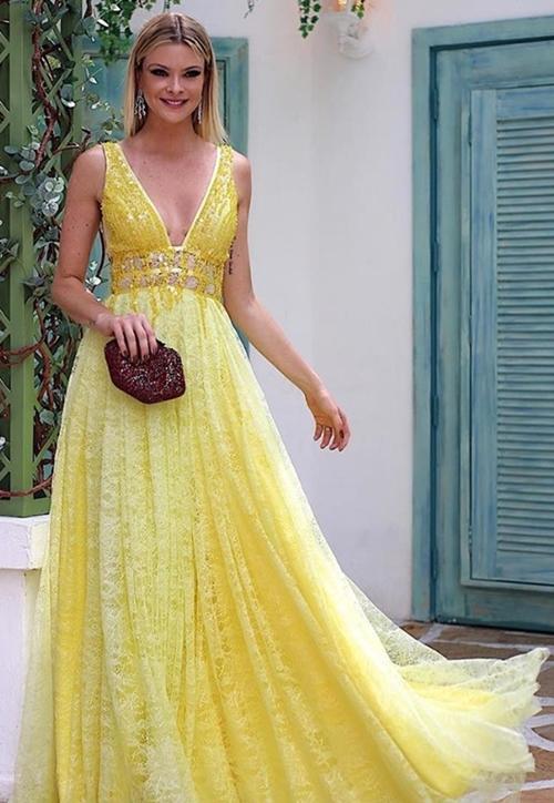 vestido amarelo para madrinha