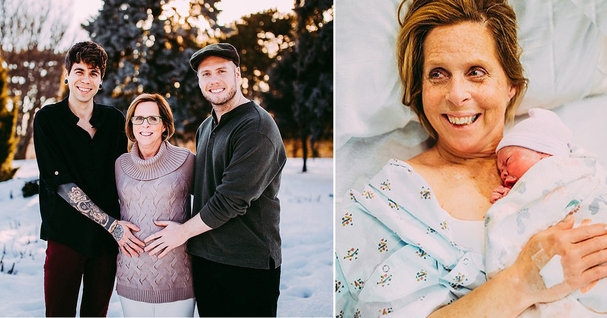 61-Year-Old Woman Gave Birth To Her Granddaughter For Her Son And His Husband