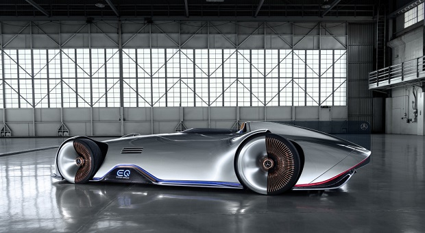 World Premiere Mercedes-Benz Vision EQ Silver Arrow