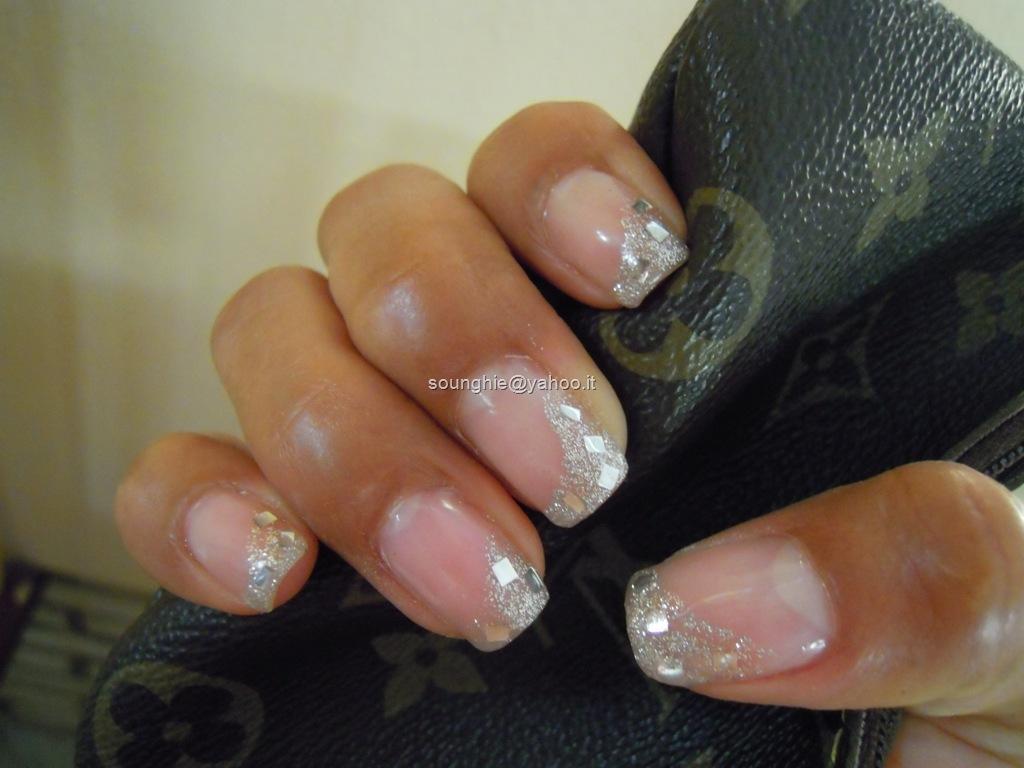 So Unghie Gel Silver Glitter Paillettes In Argento