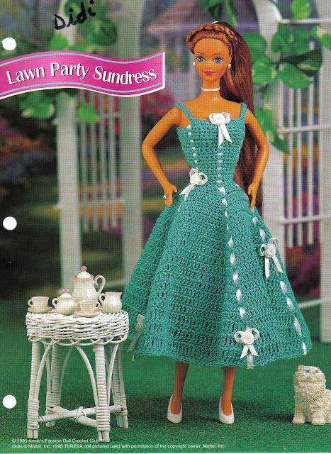 Vestido e Acessórios de Crochê Para Barbie em: Novas Versões de Um Mesmo Modelo 3