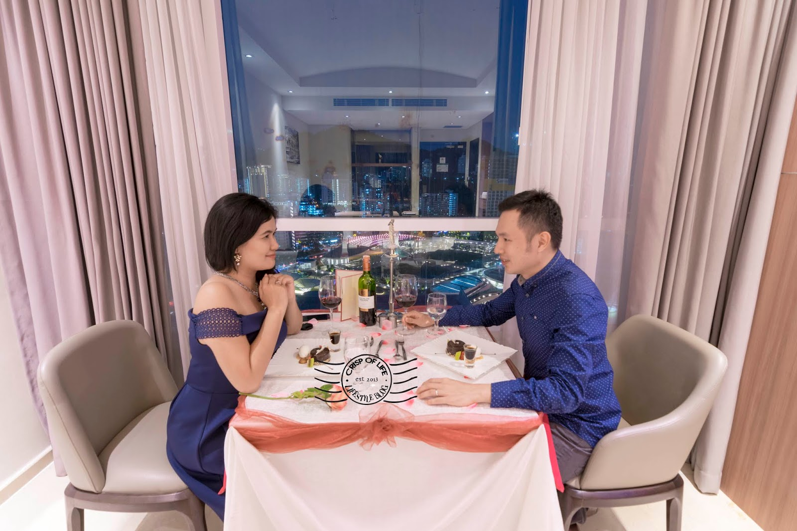 Romantic Evening Dinner with Urban Sunset View & Executive Suite Stay during Valentine at Olive Tree Hotel