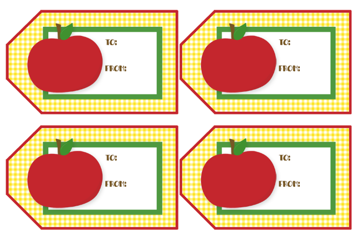 Free Printable Teacher Gift Tags | These neutral tags are perfect for any gift you give a teacher.
