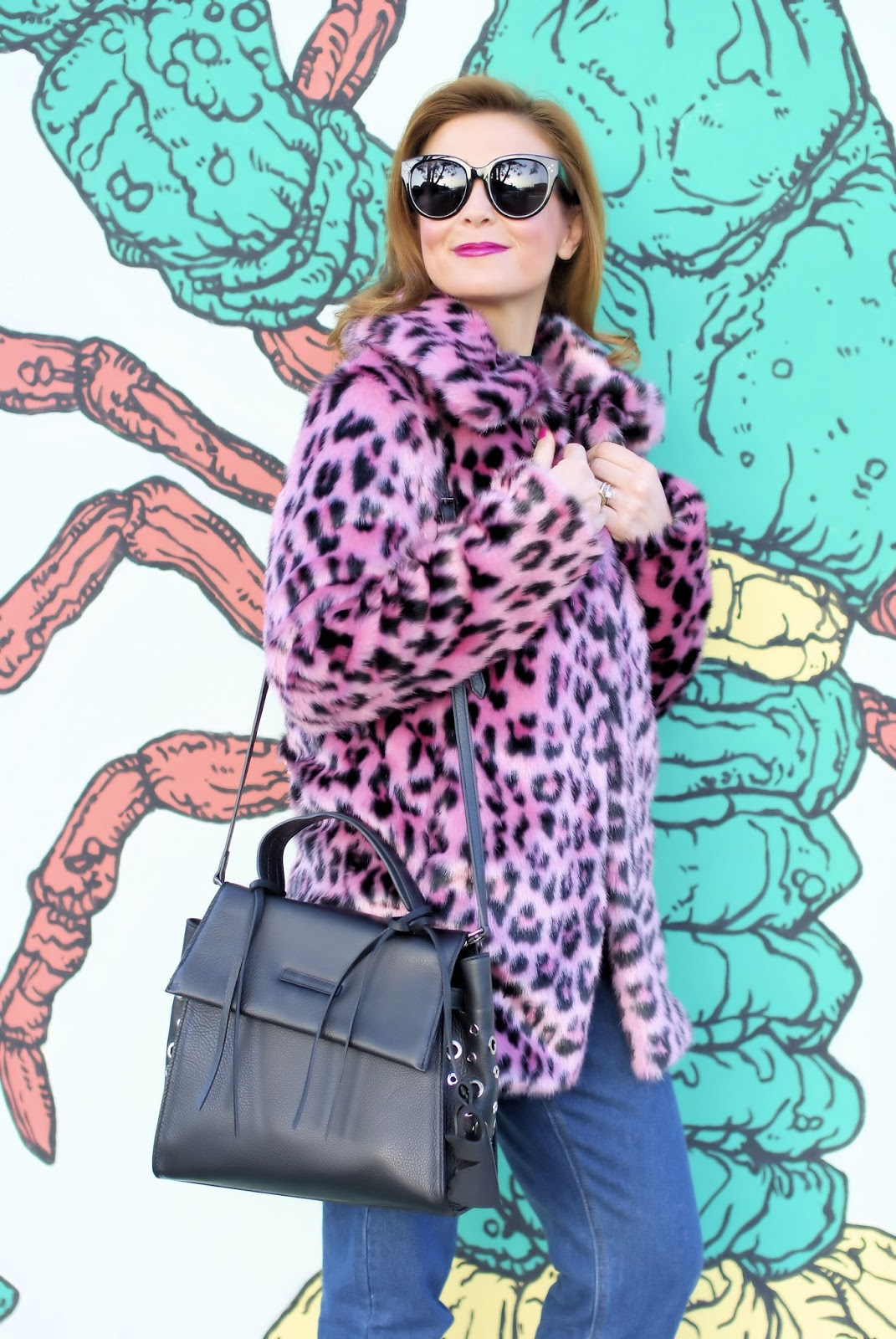 Pinko pellicciotto leopardo rosa su Fashion and Cookies fashion blog, fashion blogger style
