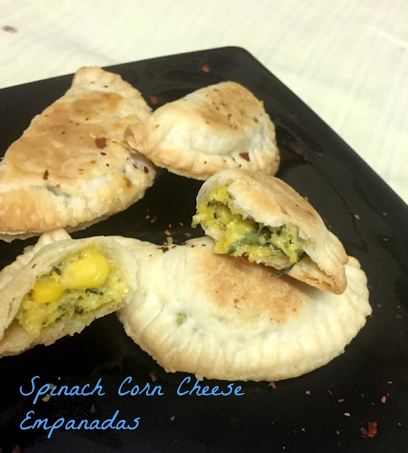 Celebrating Food: Spinach Corn and Cheese Empanadas