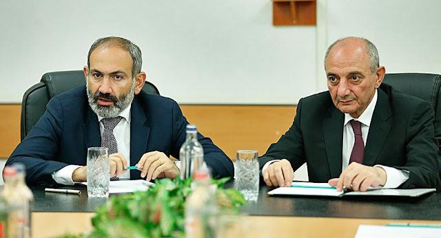 Reunión de Sahakyan y Pashinyan para discusión bilateral
