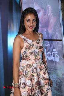 Actress Madhu Shalini Stills in Floral Short Dress at RGV Shiva to Vangaveeti Event  0039.JPG