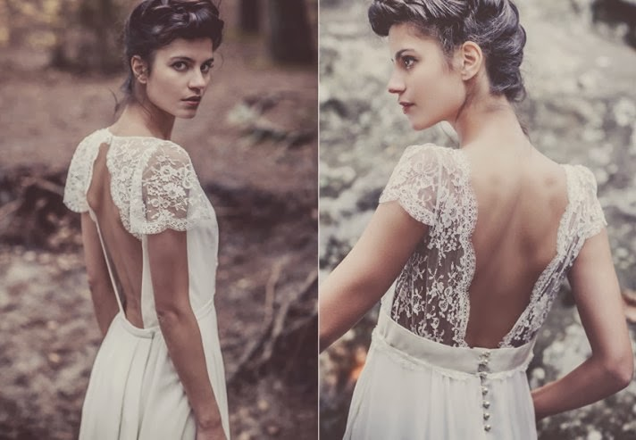 bohemian style wedding gown