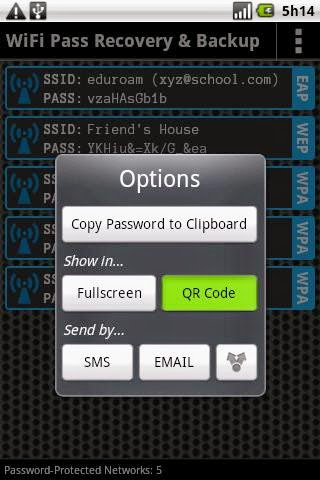 View any WiFi password on android