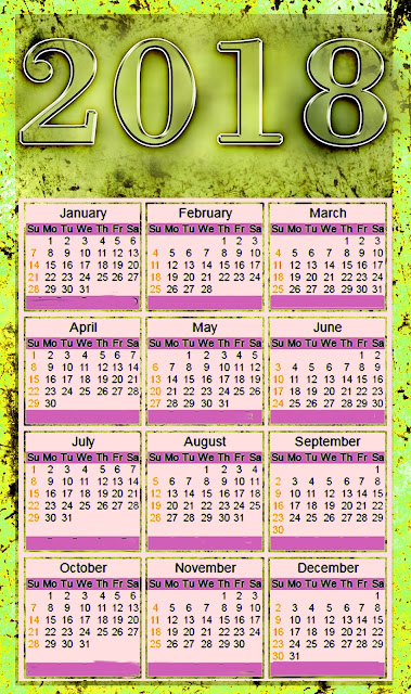 Happy New Year 2018 Calendar  pdf