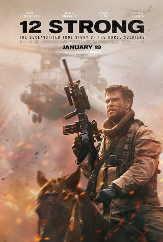 12 Strong 2018 English 350MB WEB-DL ESubs 480p Full Movie Download Watch Online 9xmovies Filmywap Worldfree4u