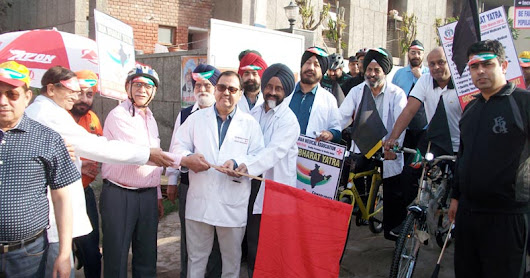 Protest Cycle Rally organized by IMA Ludhiana