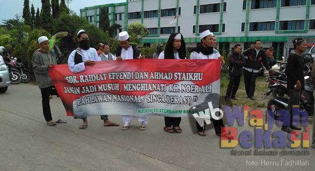 Majelis Silaturahmi Umat Islam Bekasi Kembali Demo Gereja Santa Clara