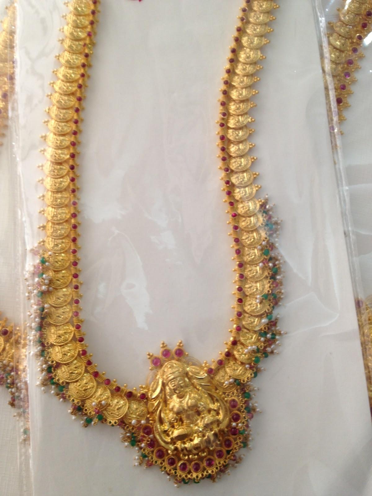 Latest Designer Kasu Mala Designs From Premraj Jewellers