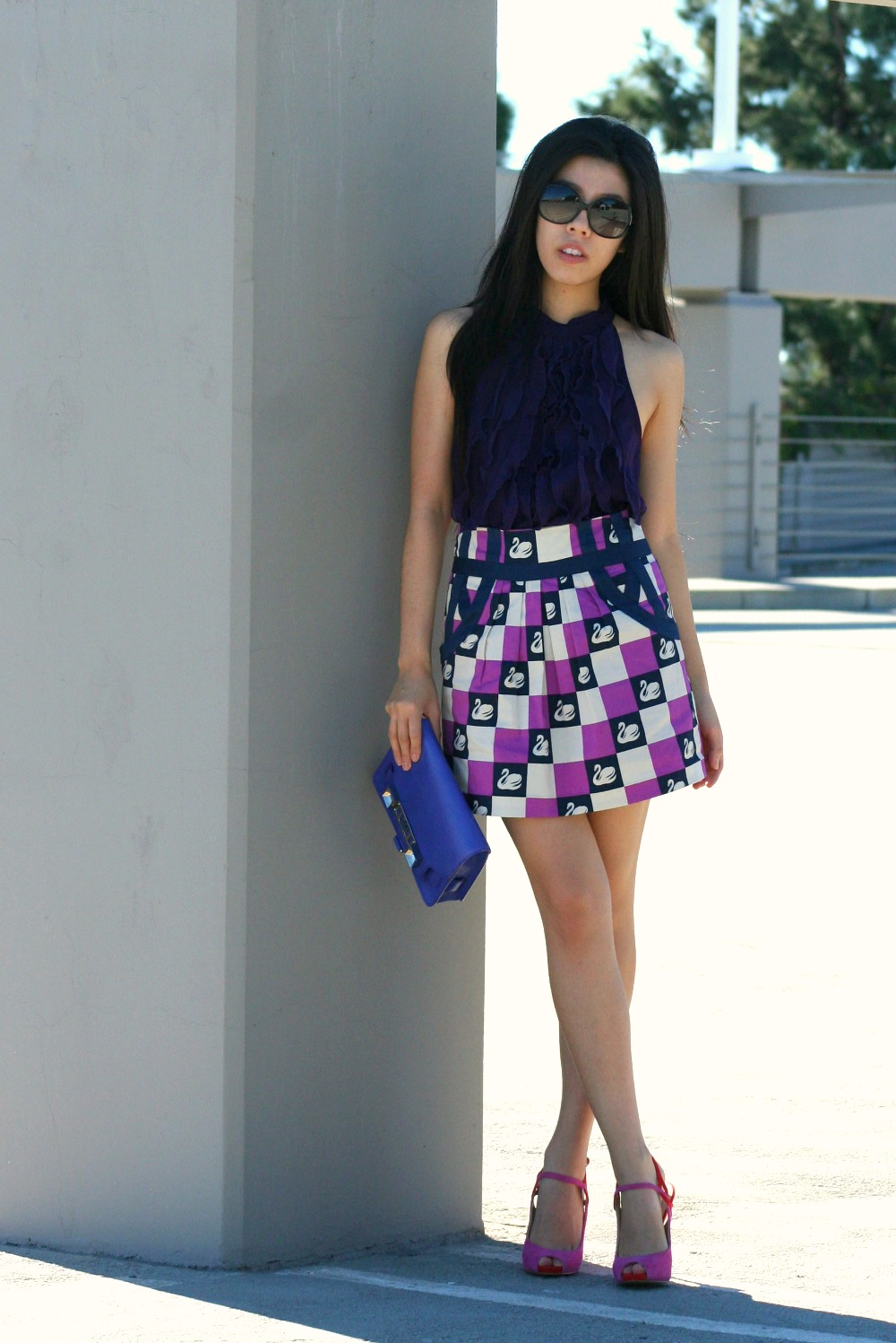How to Wear a Mini Skirt to Work_Work Appropriate Mini Skirt_Adrienne Nguyen_Invictus