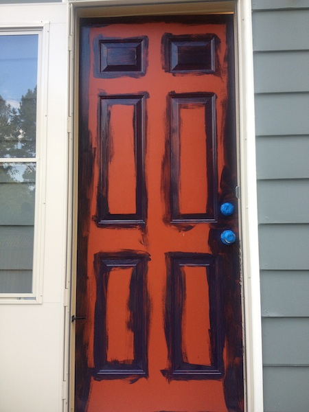 The Remodeled Life: Painting the Exterior Doors on painting an entrance door, painting doors black, painting interior door, painting exterior door diy, painting a front door, painting an outside door, painting the exterior of door door frame,