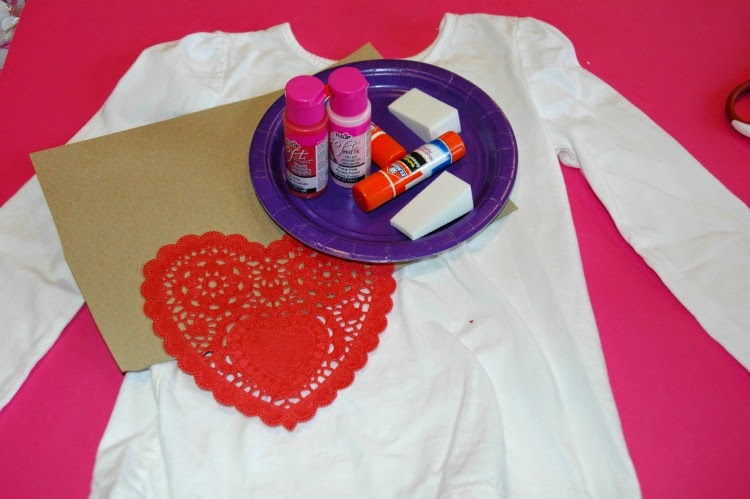 Supplies for heart t-shirt