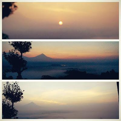 foto sunrise di purwosari hill magelang