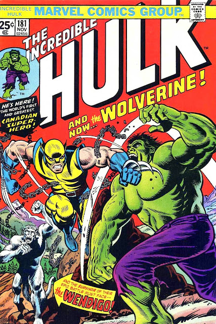 Incredible Hulk v2 #181 marvel bronze age comic book cover - 1st Wolverine