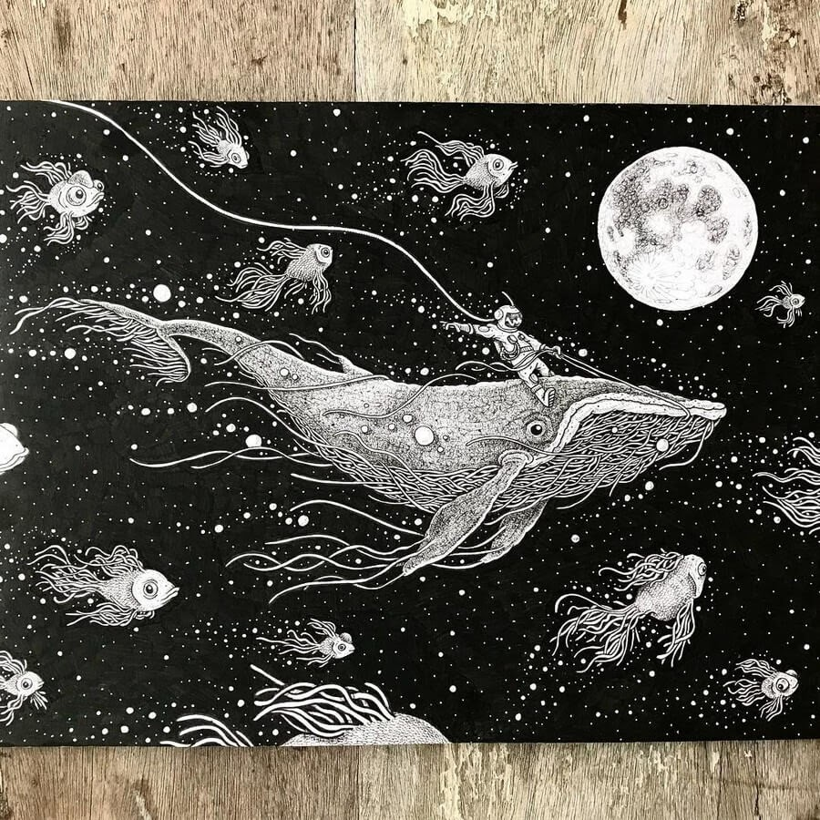02-Whale-Riding-Ezequiel-Abramzon-Surrealism-www-designstack-co