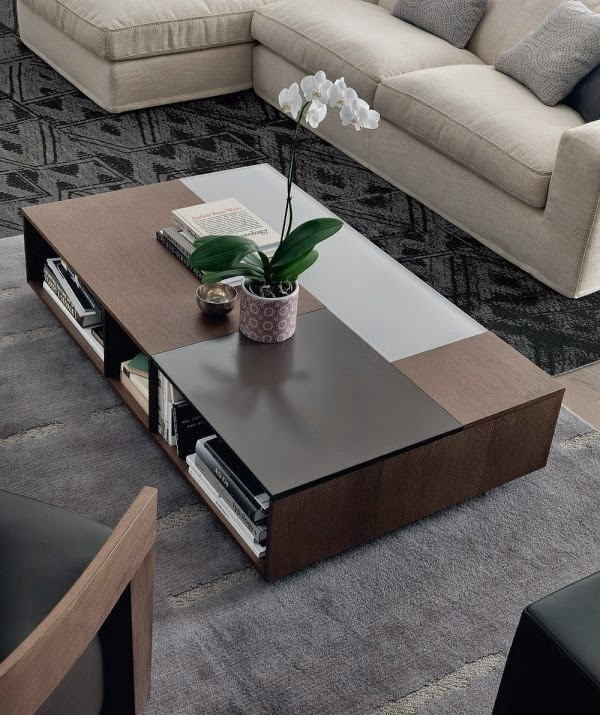 Modern Coffee Table Designs Low Rise Box Shape