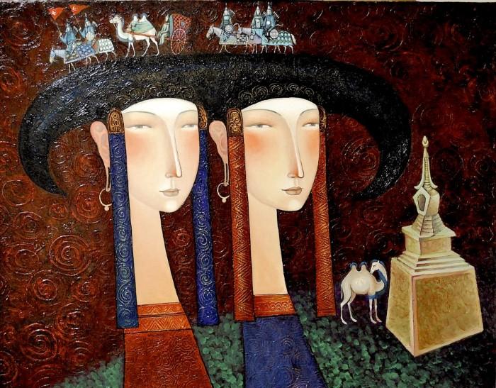 Монгольский художник. Заясайхан Самбуу 18