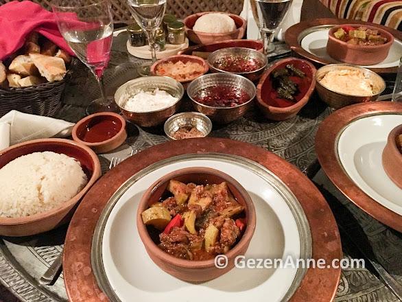 Tandırda pişmiş etli güveç, Fresco Otel Kapadokya