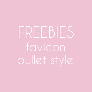 Freebies : Bullet Favicon