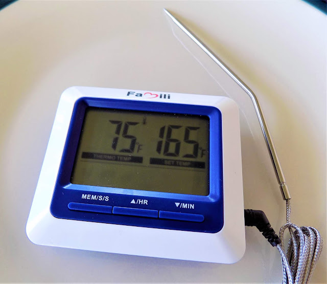 This is a picture of a digital meat thermometer