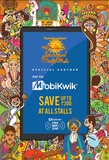 Surajkund Mela turns Cashless with MobiKwik