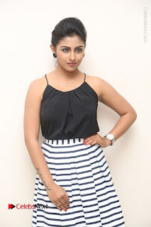 Telugu Actress Kruthika Jayakumar Stills in Short Dress at Intlo Deyyam Nakem Bhayam Success Meet  0013.JPG