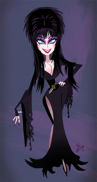 Halloween Anime Girl Wallpaper Fascinating Fanart Elvira