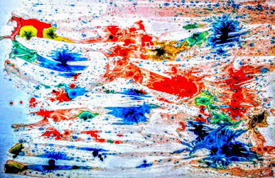 Art for Interiors.  Natures Colors, Ink on paperboard, Abstract  by Miabo Enyadike