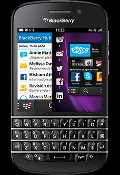 Blackberry q10 con telcel un tel fono inteligente con for Telefono bb