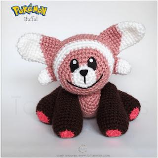 patron amigurumi Pokemon Stufful tarturumies