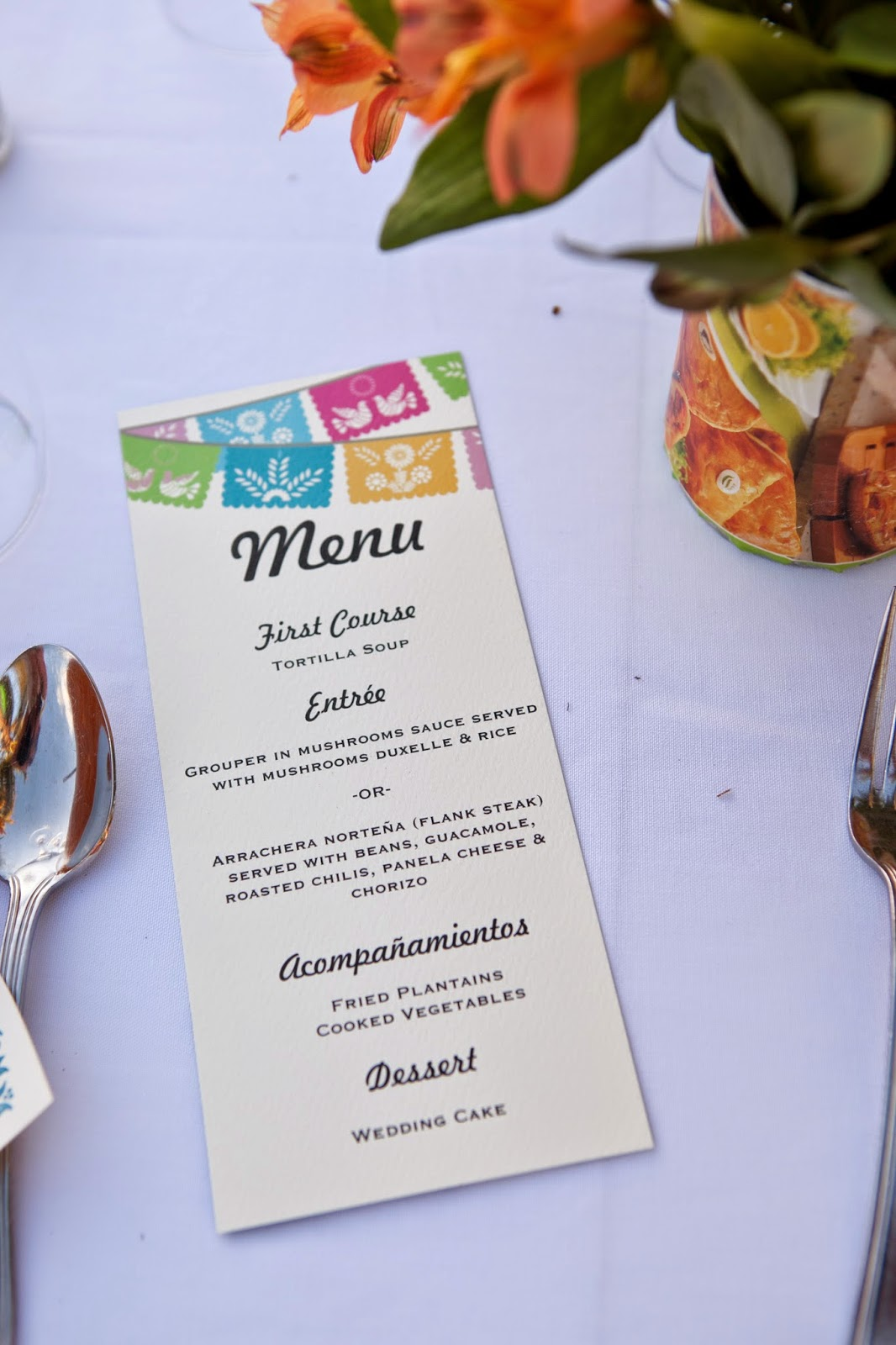 Vintage Mexican Wedding Menu Photo Credit Susan Pacek Photography