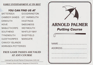Arnold Palmer Putting Course Scorecard from Skegness