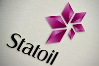 Statoil's logo is seen during a company results presentation in London February 6, 2015. (Credit: Reuters/Toby Melville/File Photo) Click to Enlarge.