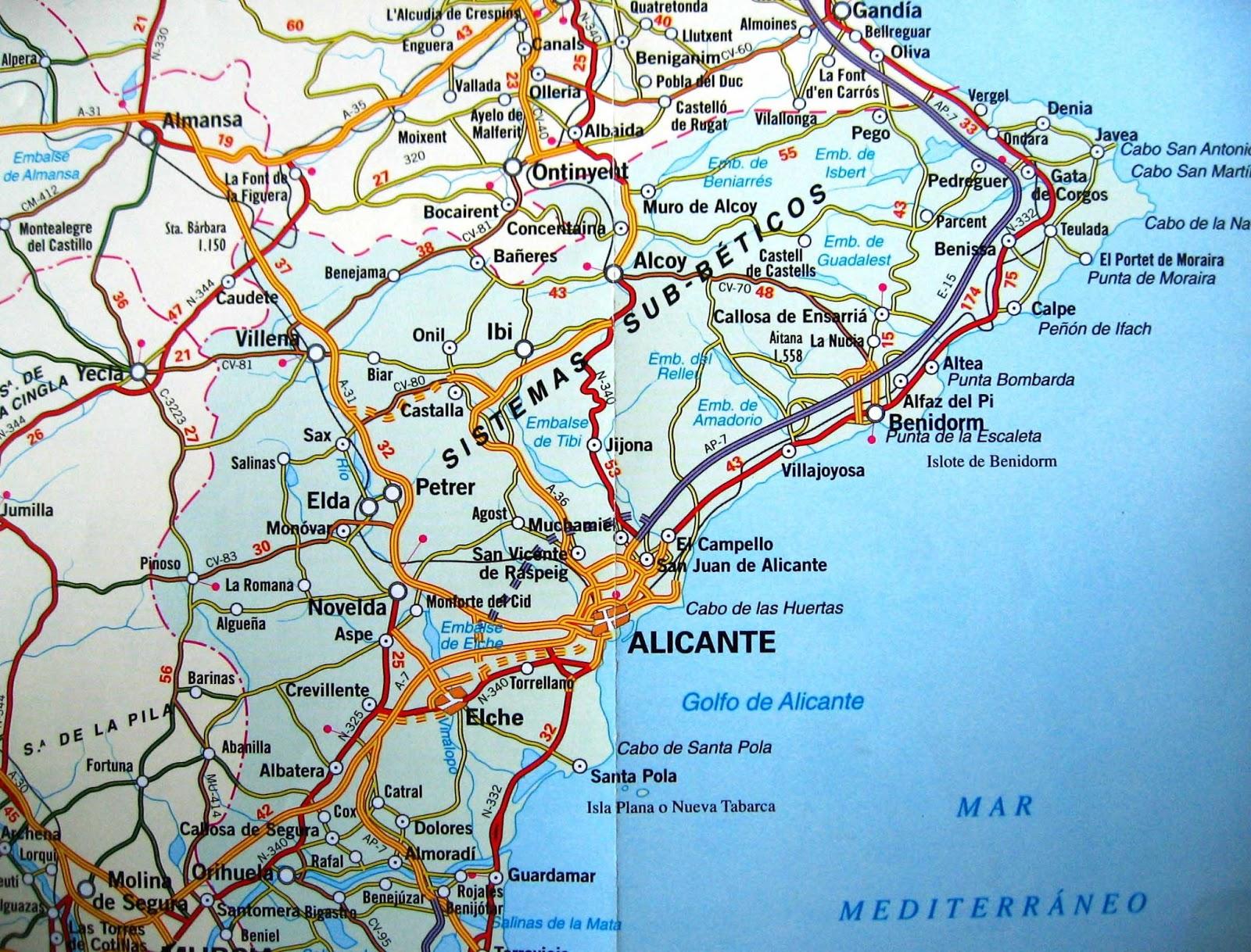 mapa comboios espanha Mapas de Alicante   Espanha | MapasBlog mapa comboios espanha