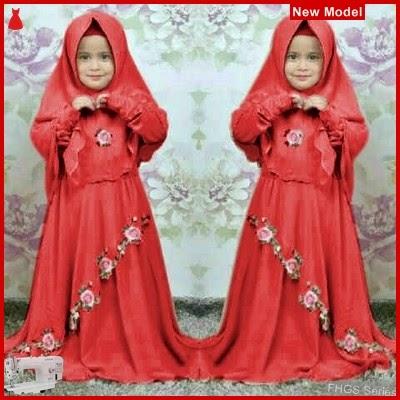 FHGS9033 Model Syari Anak Dora, Muslim Merah Pakaian Anak BMG