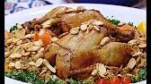 طريقة عمل دجاج محشي بالفريك  منال العالم