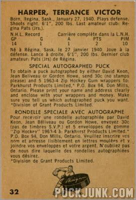 1963-64 Parkhurst #32 - Terry Harper