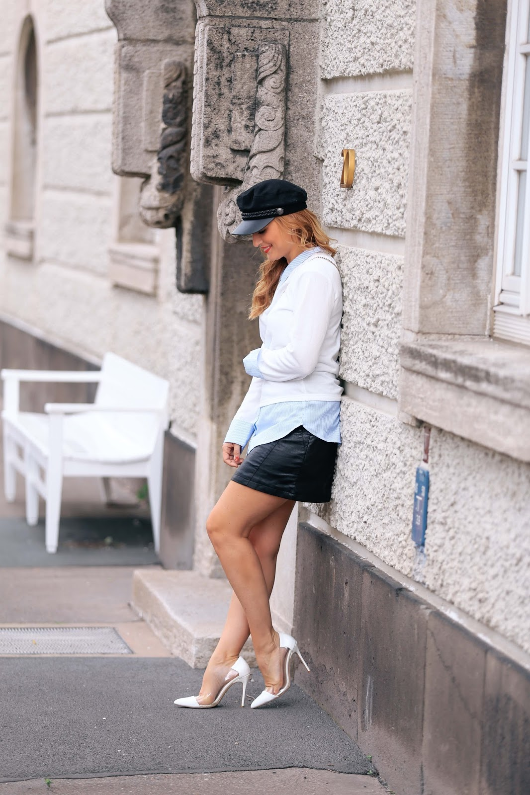 Paris-pariser-look-lederrock-matrosen-hut-bloggerstyle-german-fashionblogger